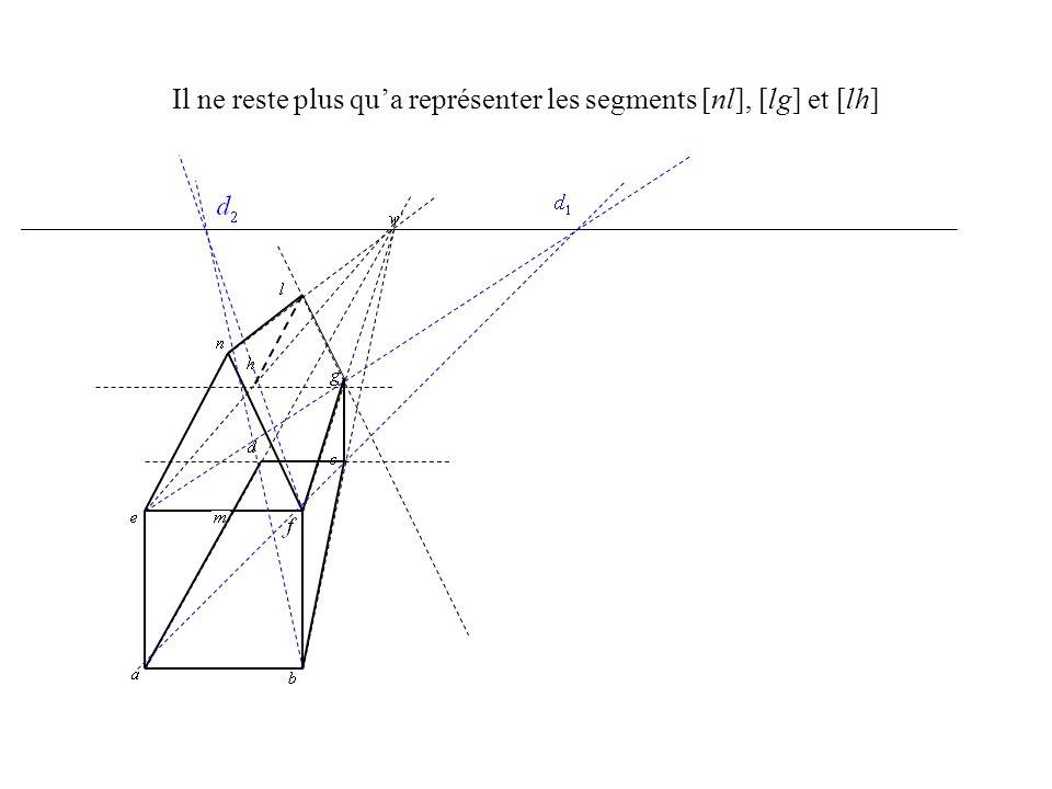 Il ne reste plus qu'a représenter les segments [nl], [lg] et [lh]